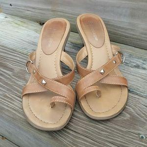 Etienne Aigner Tan Sandals size 7